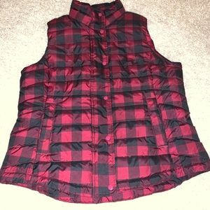 GAP buffalo plaid puffer vest